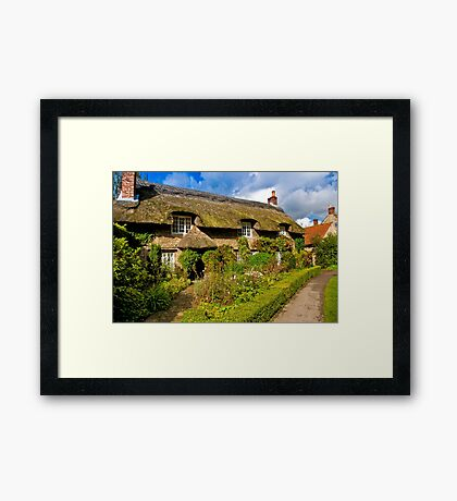 Country Cottage - North Yorkshire. Framed Print