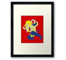 Uther Hearthsone Pop Style Framed Print
