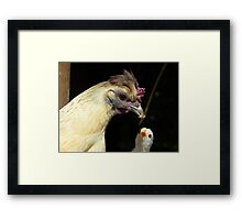Wow!! I Need That One Mum... Hen And Chick - NZ Framed Print