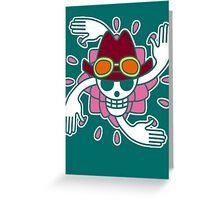 【2000+ views】ONE PIECE: Jolly Roger of Nico Robin Greeting Card