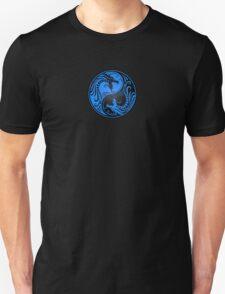 Yin Yang Dragons Blue and Black T-Shirt