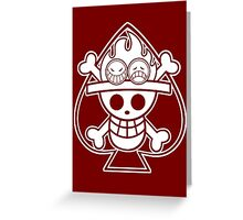 【2700+ views】ONE PIECE: Jolly Roger of Ace Greeting Card