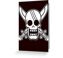 【2500+ views】ONE PIECE: Jolly Roger of Shanks Greeting Card