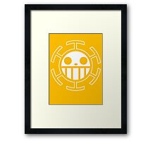 【4500+ views】ONE PIECE: Jolly Roger of Trafalgar Law Framed Print