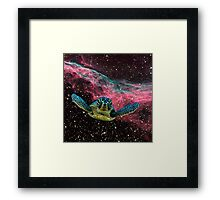 SPACE TURTLE Framed Print