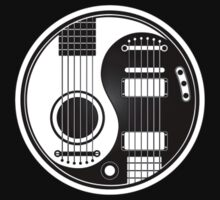 White and Black Acoustic Electric Guitars Yin Yang Kids Clothes