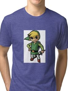 Link, zelda, cartoon version Tri-blend T-Shirt