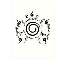 【19900+ views】NARUTO: the Seal of Nine-tails Art Print