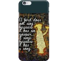 A Girl and a Bird iPhone Case/Skin