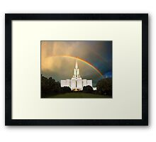 Jordan River Temple Under the Rainbow 20x24 Framed Print