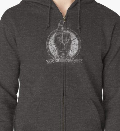 Time, Truth, & Hearts Zipped Hoodie