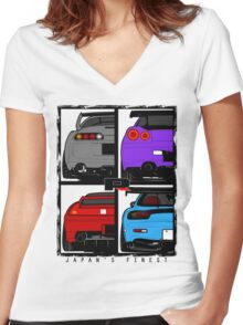 Japans Finest Women's Fitted V-Neck T-Shirt