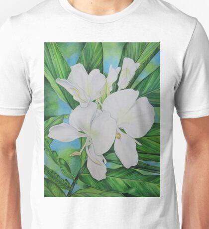 Hawaiian White Ginger Unisex T-Shirt