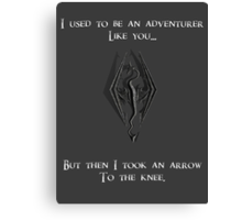 I used to be an Adventurer like you.... Canvas Print