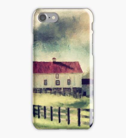 Vintage Red Roof Barn iPhone Case/Skin