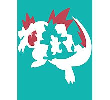【13800+ views】Pokemon Totodile>Croconaw>Feraligatr Photographic Print
