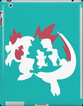 【13800+ views】Pokemon Totodile>Croconaw>Feraligatr by Ruo7in
