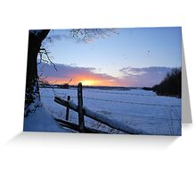 Cold Sunset Greeting Card
