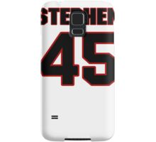 NFL Player Stephen Campbell fortyfive 45 Samsung Galaxy Case/Skin