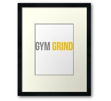 Gym Grind Framed Print