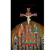 Crucifix - St Mary's Priory Church - Monmouth Photographic Print