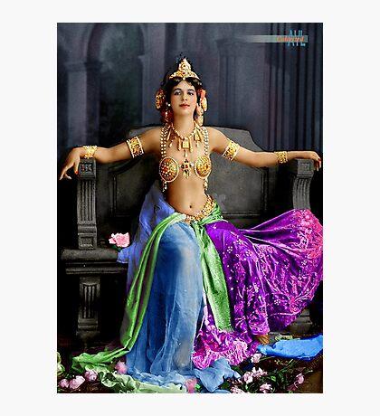 Mata Hari in her famous dance costume Photographic Print
