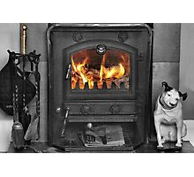 The warmth of a real fire Photographic Print