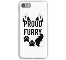 PROUD FURRY  -clear tips- iPhone Case/Skin