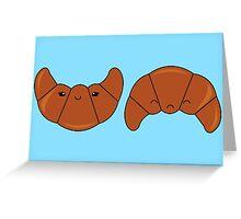 Croissant happy or sad Greeting Card