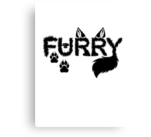 Furry Canvas Print