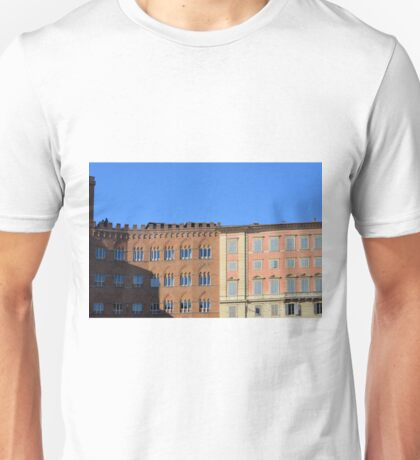 Ornamental buildings facadesfrom Siena, Italy Unisex T-Shirt