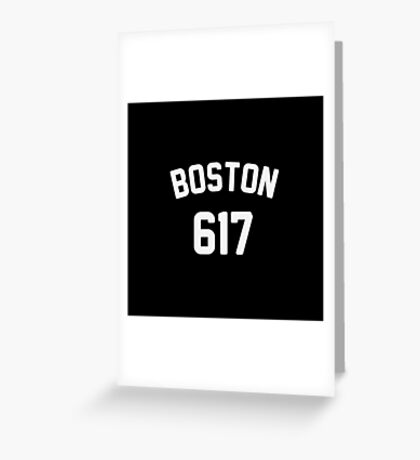 Boston 617 Greeting Card