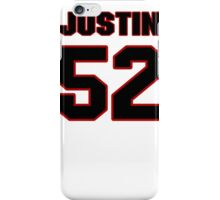 NFL Player Justin Durant fiftytwo 52 iPhone Case/Skin