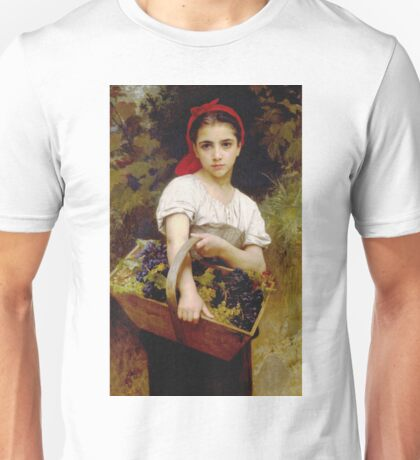 Adolphe William Bouguereau - Vendangeuse Unisex T-Shirt
