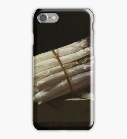 Adriaen Coorte - Still Life With Asparagus, 1697 iPhone Case/Skin