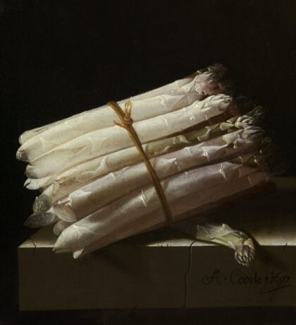 Adriaen Coorte - Still Life With Asparagus, 1697 Sticker