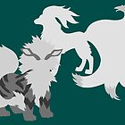 Arcanine and Ninetales by dauwdruppel