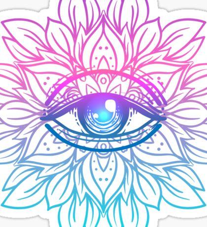 Rainbow Eye Mandala Sticker