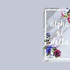 Alpha Xi Delta Modern Floral by alefkow
