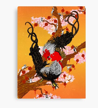 Year of the Fire Rooster Canvas Print