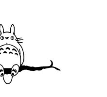 Totoro on branch for laptop by LTEP