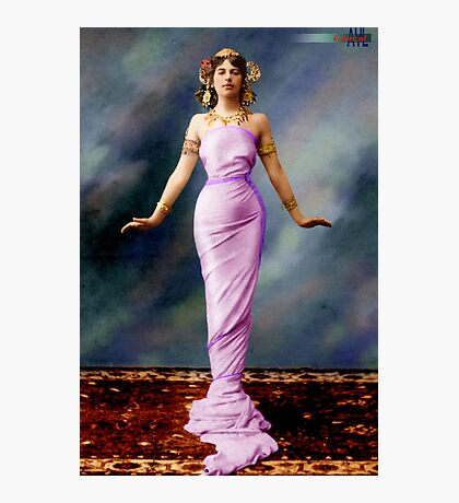 Colorized Mata Hari in her youth Photographic Print