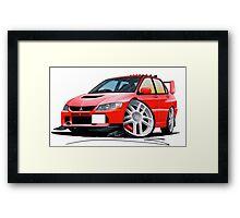 Mitsubishi Evo IX Red Framed Print