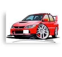 Mitsubishi Evo IX Red Canvas Print