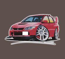 Mitsubishi Evo IX Red One Piece - Short Sleeve