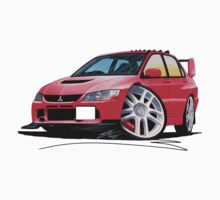 Mitsubishi Evo IX Red One Piece - Long Sleeve