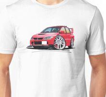 Mitsubishi Evo IX Red Unisex T-Shirt