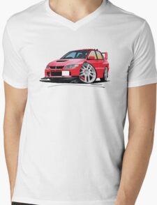 Mitsubishi Evo IX Red Mens V-Neck T-Shirt