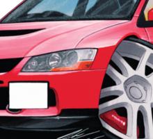 Mitsubishi Evo IX Red Sticker