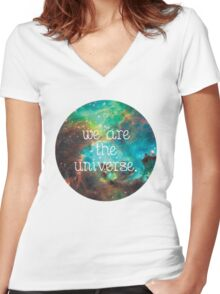 we are the Universe v2 Women's Fitted V-Neck T-Shirt
